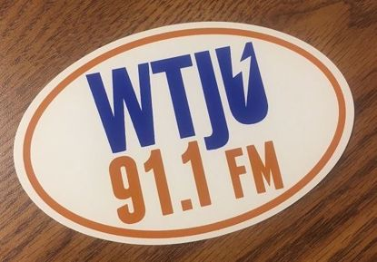 WTJU oval sticker